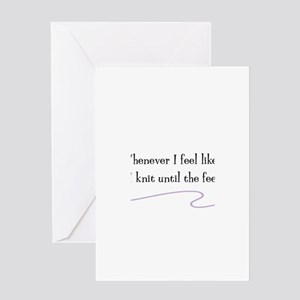 """Whenever I Feel Like Exercising"" Greeting Card"