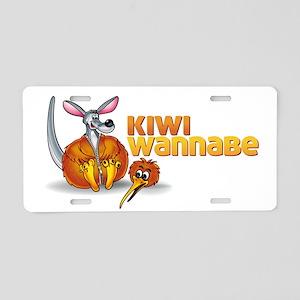 Kiwi Wannabe 2 Aluminum License Plate