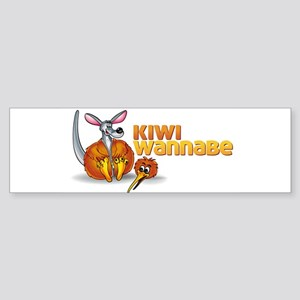 Kiwi Wannabe 2 Sticker (Bumper)