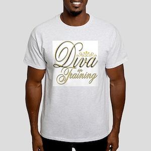 Diva in Training Ash Grey T-Shirt