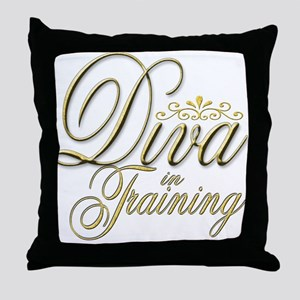 Diva in Training Throw Pillow