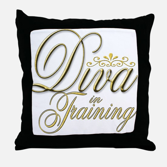 Diva in Training Throw Pillow