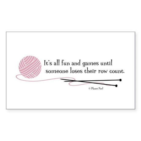 """""""Fun and Games"""" Sticker (Rectangle)"""