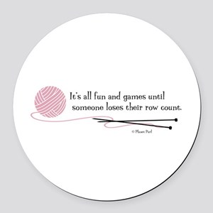 """""""Fun and Games"""" Round Car Magnet"""