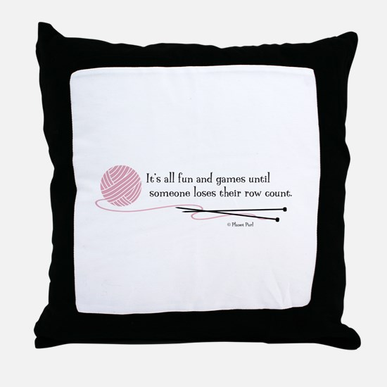 """Fun and Games"" Throw Pillow"