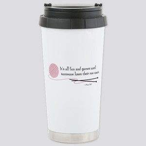 """Fun and Games"" Stainless Steel Travel Mug"