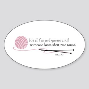 """""""Fun and Games"""" Sticker (Oval)"""
