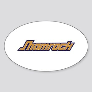 SHAMROCK LOGO 3 YELLOW Sticker (Oval)