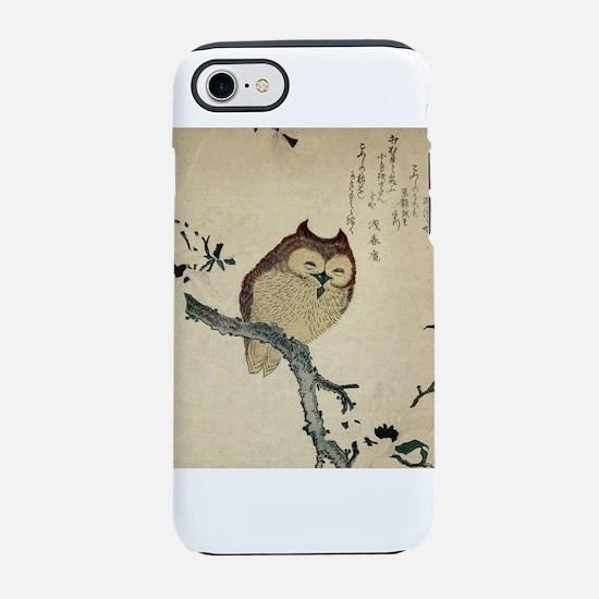 Owl and magnolia - Anon - 1870 iPhone 7 Tough Case