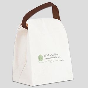 """""""Hell Hath No Fury"""" Canvas Lunch Bag"""