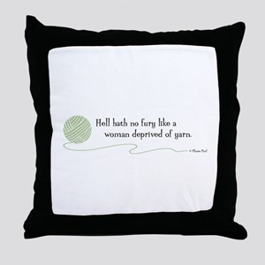 """Hell Hath No Fury"" Throw Pillow"