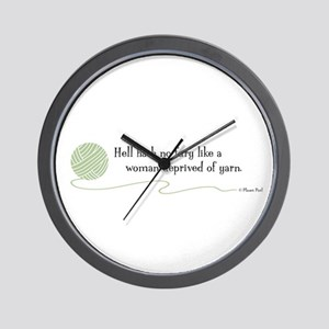 """Hell Hath No Fury"" Wall Clock"