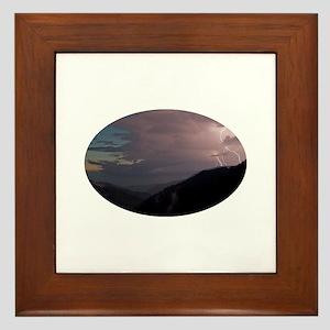 Smoky Mountain Lightning Framed Tile
