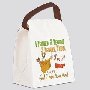 Tequila Birthday 21 Canvas Lunch Bag