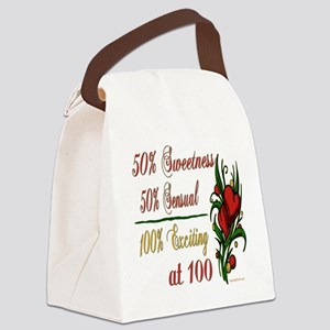 Exciting100 Canvas Lunch Bag