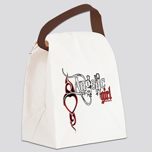 bleedingAngelicGirl copy Canvas Lunch Bag