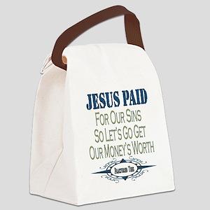 Jesus Paid copy Canvas Lunch Bag
