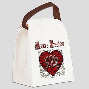 GreatestFracturedNurse Canvas Lunch Bag