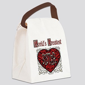 GreatestFracturedSister Canvas Lunch Bag