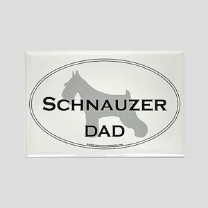 Schnauzer DAD Rectangle Magnet