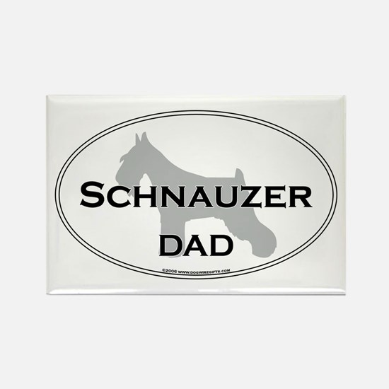 Schnauzer DAD Rectangle Magnet