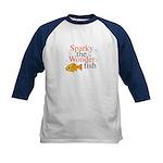 Sparky the Wonderfish Kids Baseball Jersey