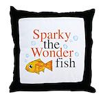 Sparky the Wonderfish Throw Pillow