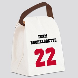 Team Bachelorette 17 Red Canvas Lunch Bag