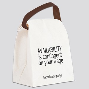 availabilitycontingent Canvas Lunch Bag