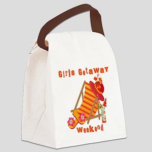 GIRLSGETAWAYTROPWKEND Canvas Lunch Bag