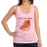 GIRLSGETAWAYTROPWKEND Racerback Tank Top