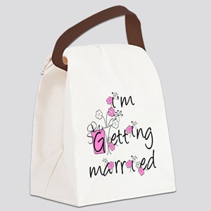 PINKFLOWSIMGETMARRIED Canvas Lunch Bag