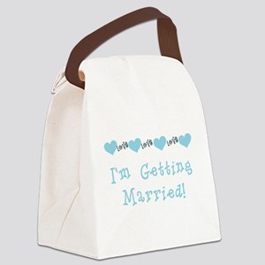 bluegettingmarried Canvas Lunch Bag