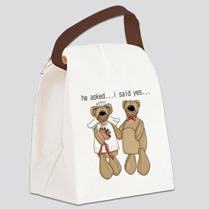 ASLEDSAIDYESBEARS Canvas Lunch Bag