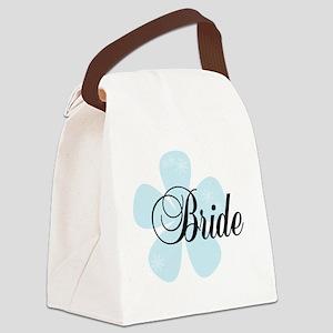 blueFLOWBRIDEtee Canvas Lunch Bag