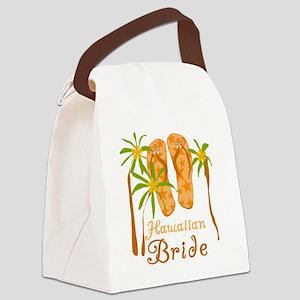 fliphawaiianbride Canvas Lunch Bag