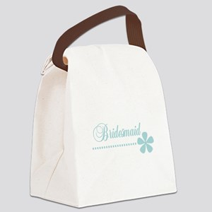bridesmaidteal Canvas Lunch Bag