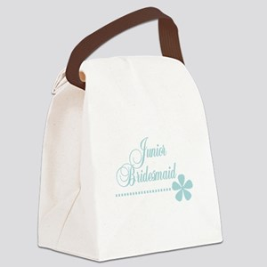 juniorbridesmaidteal Canvas Lunch Bag
