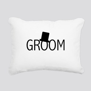 blacktextgroomtae Rectangular Canvas Pillow