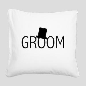 blacktextgroomtae Square Canvas Pillow