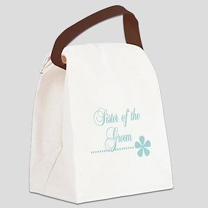 sistergroomteal Canvas Lunch Bag