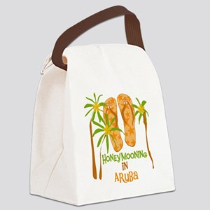 Honeymoon Aruba Canvas Lunch Bag