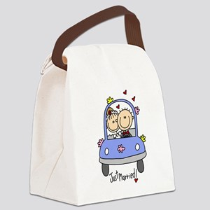 Wedding Car Just Married Canvas Lunch Bag