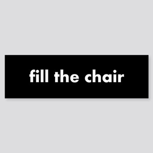 fill the chair white on black Sticker (Bumper)