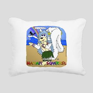 Hawaii Squirrel Rectangular Canvas Pillow