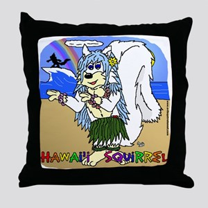 Hawaii Squirrel Throw Pillow
