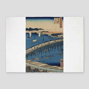 Ryogoku Bridge and the great riverbank - Hiroshige