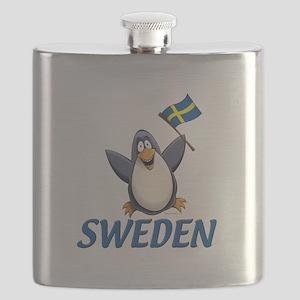 Sweden Penguin Flask