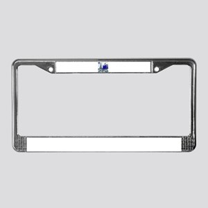 iceland art illustration License Plate Frame
