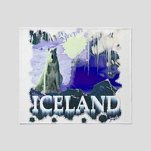 iceland art illustration Throw Blanket